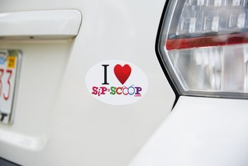 Car Oval Sticker